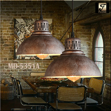 Flose MD-5351A industrial pendant lighting rust vintage style,rust vintage style lamp,rust vintage lamp.