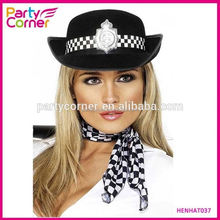 Black Policewoman Hat
