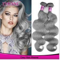 Wholesale best quality brazilian gray remy hair extensions