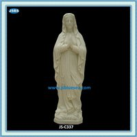 Hand Carved Praying Virgin Mary Marble Statue