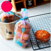 Thickening of Korean wave frosted cookie bag net Cookies packaging bags 12 * 20.5 cm