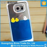Made in China Mobile Phone S6 Phone Case with Liquid lovely Rubber Duck