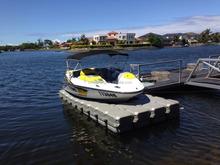 Jet Ski or Boat Dock-Modular Drive on Pontoon