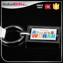 Factory direct sale custom metal 3d soft pvc keychain