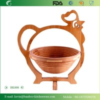 BK008/2015 new novety and cute rooster fruit baskets chinese cheap handmade rooster fruit basket for vegetable