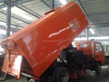 DAF furuika 4m3 garbage bin 2m3 sewage tank cleaning road vacuum sweeper truck for sale