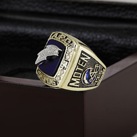 SJ New Arrival SJMC004 A.F.C 1994 SAN DIEGO CHARGERS Championship Replica Ring with Wooden Box