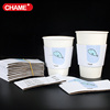 disposable hot coffee paper cup with sleeve