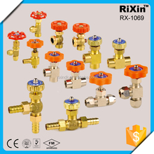 "RX 1069 1/4""3/8"" oil gas water small hard alloy needle high pressure flange end needle valve needle valve for oil and gas"