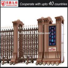 Residential fence automatic gate aluminum sliding folding main automatic gate