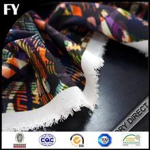 Factory high quality digital printed cotton stretch twill fabric