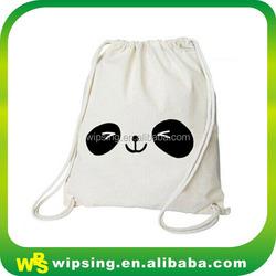 Promotional Drawstring Cotton Tote Bag with Logo Printing
