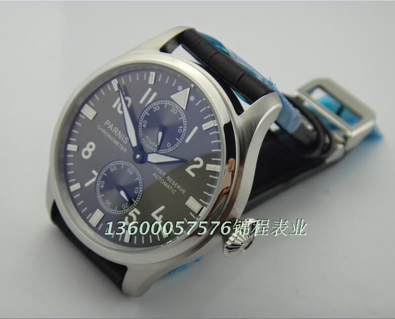 2016 новая мода 47 мм PARNIS big pilot Темно-серый циферблат ST2530 автоматический механизм высокого качества для мужчин часы оптовая x00018