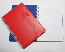 spiral pu leather 2015 agenda notebook