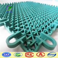 double cross pattern PP Interlocking sports flooring