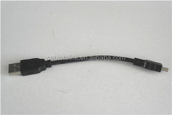 "6"" Short Slim Mini USB 2.0 Cable A to Mini B Type A Male"