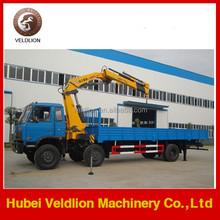 6*4 Dongfeng 210HP old truck crane 8 ton