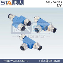M12 T type /Y type connector,waterproof M12 connector