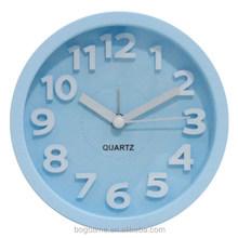 Promotional 3D wall clock decorative, plastic wall clock