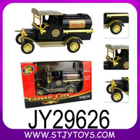 Classic baby money box 1:24 black die-cast toy old model car
