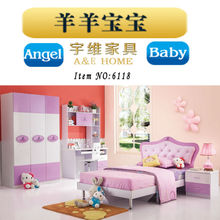 high quality MDF board teenage lovely home furniture armoire