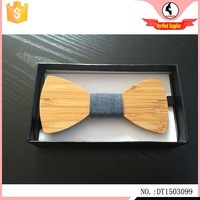 Stocked high quality carbonized bamboo wood bow tie