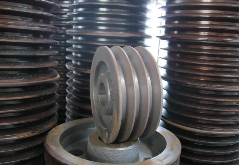 Oem casting steel pulleys of crane parts cast iron belt