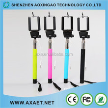 AXAET 2015 Portable Easy Handheld Colorful Selfie Stick for Smart Phones
