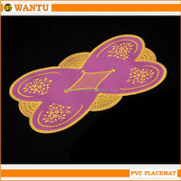 New arrival Fucun Shentangwu pink gold coaster placemats