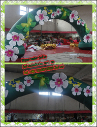 decoration inflatable wedding arches with flowers cloth lotus flower stand
