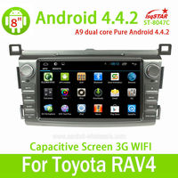Wholesale with Mirror link OBD 3G Wifi for Toyota RAV4 2013 pure Android 4.4.2 Car Radio with Gps navigation