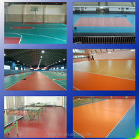 Authurize embossed grain PVC badminton courts soft sports floor