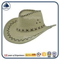non-woven fabrics beer fest western hat band cheap cowboy hats