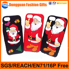 Christmas designs cheap mobile phone case,wholesales silicon cell phone case with 6