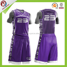 OEM service customizable sublimated basketball team names jersey design