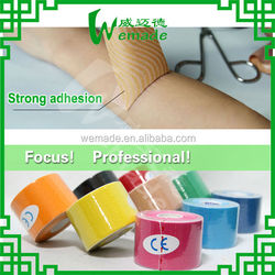 Manufacturer physical adhesive ce/fda/iso rock tape/k tape Kinesiology Taping /sports tape
