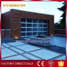 YQG-02 Frosted Aluminum Glass Panel Garage Doors, fancy gates