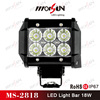 Discount! high lumen18W LED light bar, 18w mini off road vehicle lights bar, 12v 18w led light bar