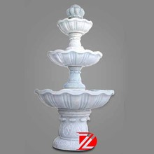 hand carved white stone 3 tier water fountains