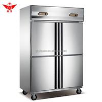 Stainless Steel 4 Door Commercial Refrigerator/ Deep Freezer