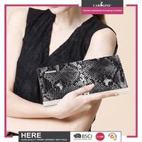Luxury mini ladies clutch purse with metal closure