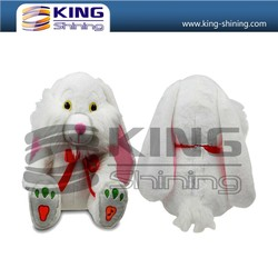 Factory price OEM service lovely white dog toys, musical and dance plush toys for gifts.