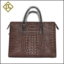 Brand Personalized Design men briefcase crocodile real leather handbags