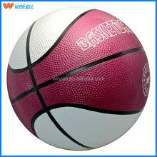 2015 newest professional customized logo rubber basketball