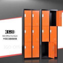 IGO-23 Six door cabinet 6 compartment steel locker/6 door clothing locker with hanging rods/6 door locker price