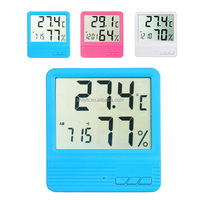 Feilong Specam LCD Digital Temperature Humidity Meter Hygrometer Clock