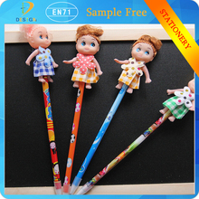 China alibaba hot selling cartoon girl toy school stationery gel blue ink plush pens for kids