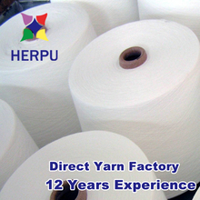 Raw white 40s polyester spun yarn from Hebei China manufacturer