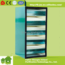 High Volumes Compact Filter, H12 h13 H14 V type Fiberglass air filters