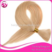 10pcs 18 Inches Cheap Brazilian Hair Bulk Buy From China, 1b# Brazilian Bulk Hair Extensions Without Weft
